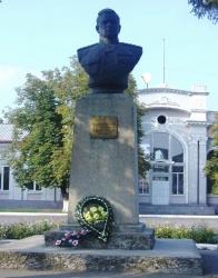 Пам'ятник генералу М.Ф. Ватутіну у місті Ватутіне