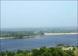 Краєвид із Чернечої гори у Каневі