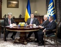 Відбулася зустріч Віктора Януковича з Леонідом Кравчуком, Леонідом Кучмою та Віктором Ющенком