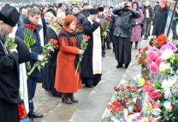 Голова обласної ради взяла участь у молебні за Небесною Сотнею