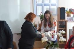 Валентина Коваленко у Чорнобаї зустрілася з членами учнівського наукового товариства «Еврика»