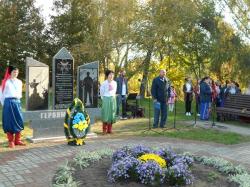 У Катеринополі відкрито пам'ятну стелу Героям Небесної Сотні і загиблим учасникам АТО