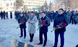 Фоторепортаж. В обласному центрі відзначили День Соборності України.